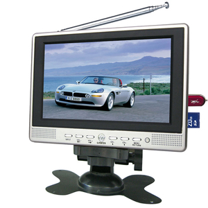 7 inch LED TV with mstar dvb-t2 modulator built-in set top box, cccam  receiver dvb-t support usb firmware update LD-768T2