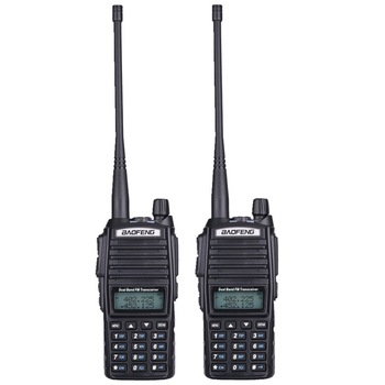 Baofeng UV-82 Walkie Talkie Dual PTT UV 82 Portable Two way Radio VHF UHF Ham CB Radio Station UV82 Hunting Transceiver