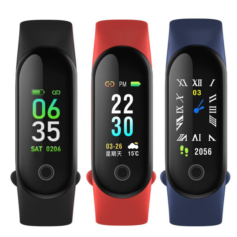 NEW fashion M3 colorful screen touch fitness tracker blood pressure heart rate smart watch M3 smart band