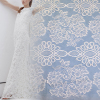 Custom design woven flower dress making bridal lace fabric wholesale
