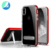 for oppo r9 plus 2019 Metal Kickstand Case Soft TPU Bumper Transparent Cover case for oppo r9