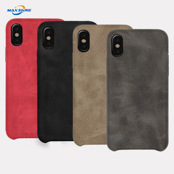 brand original shockproof genuine pu leather mobile phone case cover for iphone 6 7 8 plus X xr Xs Max case