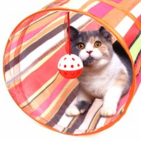 3 Colors Animal Play Toy Puppy Training Collapsible Bulk Funny Cat Tunnel Toys Product With Ball