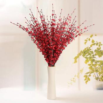 10 Pcs Red Artificial Flowers