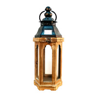 Wholesale decorative vintage iron indoor outdoor glass metal christmas candle holder lantern
