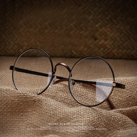 "Unisex Clear Transparent Circle Round Glasses ""Nerd"" Glasses Mens Womens"