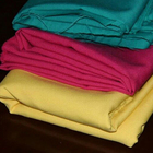 Comfortable plain polyester dyed satin fabric for household