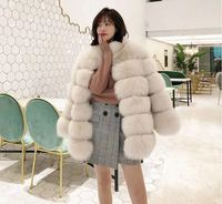 Wholesale winter women's white coats faux fur coats for ladies