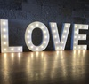 Galvanized sheet Material and LED Bulbs letter, Marquee letters Product Name 4ft marquee letters love
