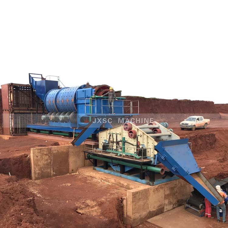 Широко утвержденный низкая цена аллювиальный золотодобывающий перерабатывающий промывочный завод тромммель роторный скруббер