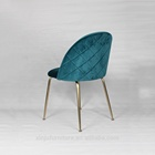 BaZhou antique brushed modern velvet/fabric dining room furniture round back dining chair