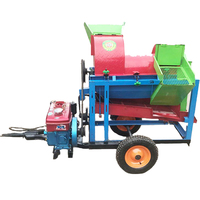 farm sweet corn sheller machine and maize thresher with diesel engine