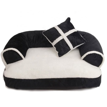 Fancy Cotton Detachable Chew Proof Orthopedic Heated Small Large Pet Supplies Dog Couch Sofa Bed