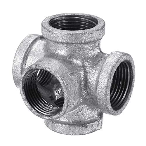 1/2&quot; 3/4&quot; 1&quot; Galvanized Malleable Iron 5 Way Outlet Cross Pipe <strong>Fitting</strong>