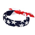 Popular Headband 100% Cotton Head Wrap Scarf Wristband US American Flag Bandana