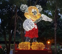 Mickey Mouse cartoon character christmas motif light