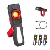 Waterproof Bright cob led rechargeable work lights worklight flashlight with magnet base for repair