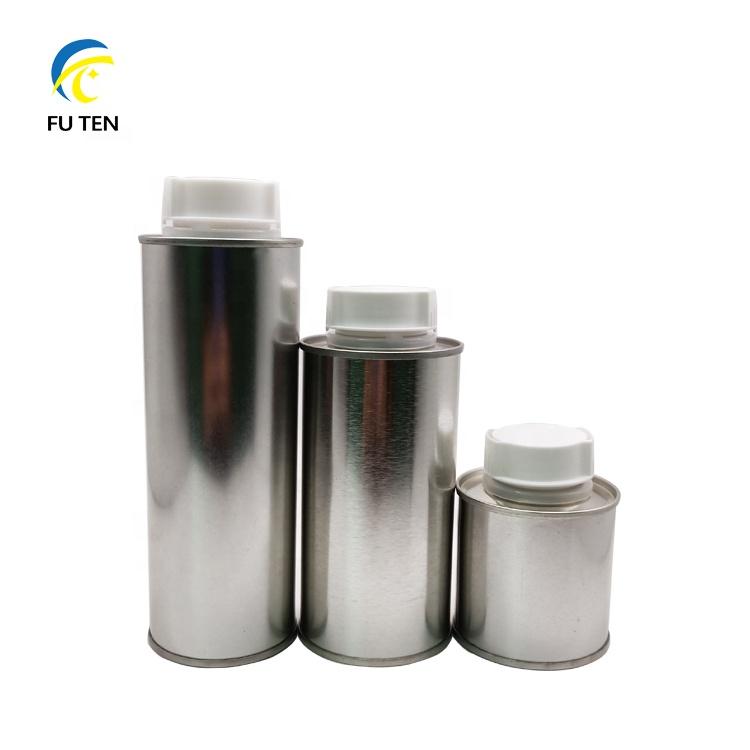 Metal tinplate packaging for brake fluid dot-3