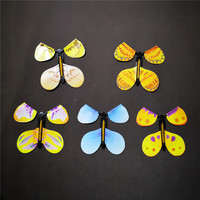 Magic rubber band paper flying butterfly toys