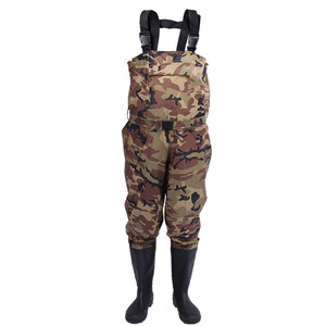 Men Camo Waterproof Waist Pants Hunting Rubber Boots Fishermen Fly Plus Size Chest Fishing Waders