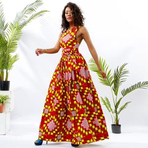 Shenbolen  New Style African Kitenge Design Picture Long Party Dress For Women