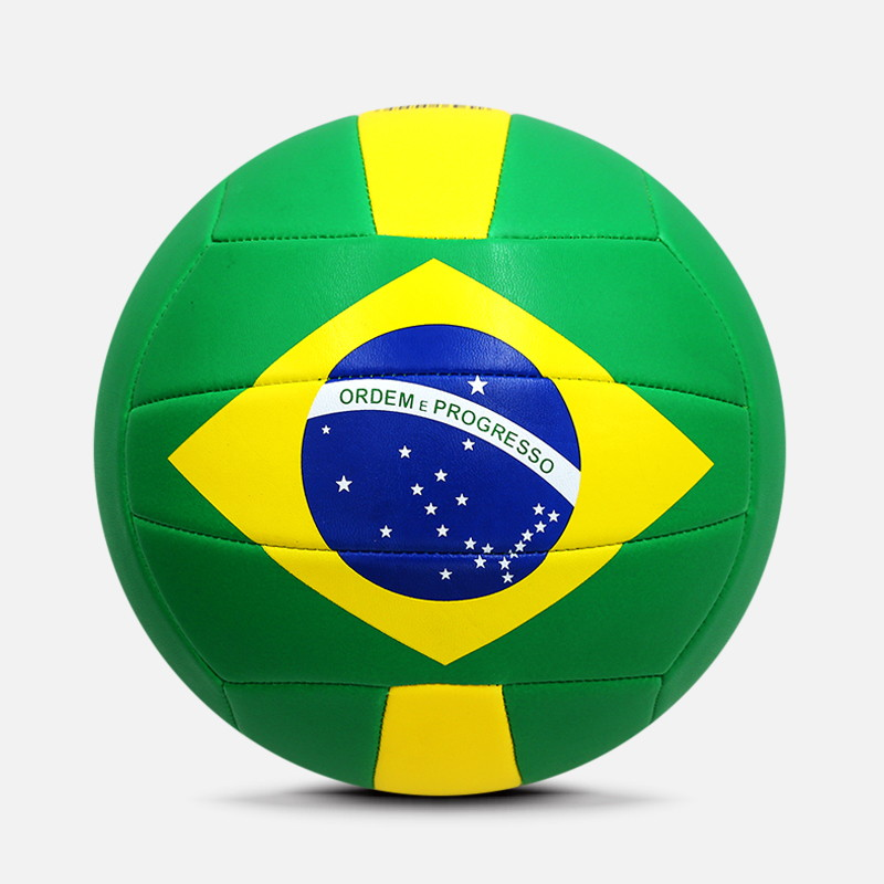 Brazilië Land Vlag Promotionele Mini Volleybal Bal in Bulk, Nieuwe Rubber Blaas Maat 5 4 Volleybal