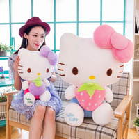 The new bow cat plush dolls, hello Kitty, strawberry doll plush toys