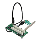 PCIe to Dual PCI Adapter Card PCI Express to PCI Slot Expansion Card USB 3.0 Add on Cards Converter
