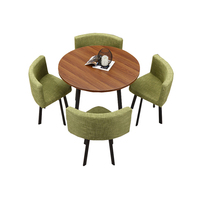 Wholesale Wooden Restaurant Furniture Cafe Tea Dining Room Coffee Table with Chairs