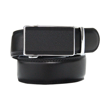 Formal Business automatic buckle geniuen leather men belt black