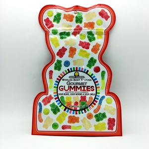 Food Grade Factory Wholesales OEM Gummy Bear Candy Bags Cute Stand Up  Ziplock Bag For Candy Packaging