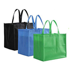 Heavy Duty Extra Large Custom Printed Grocery Tote Bag Non Woven Shopping Reusable