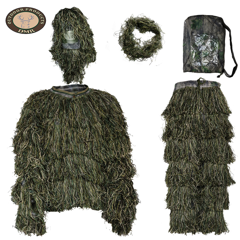 Wholesale stock camo jungle Camouflage Ghillie Suit for Sniper to Go Hunting