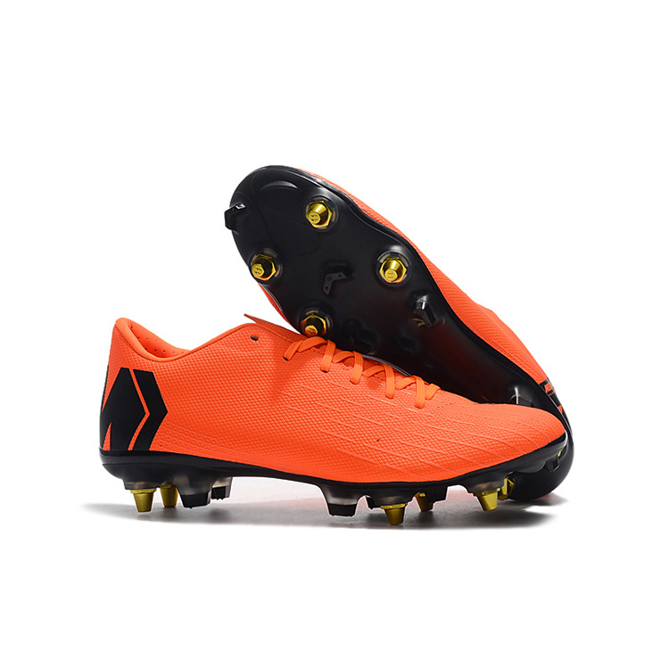 China supplier original football best outdoor cleats boots soccer shoes, Orange fluo;black/green fluo;blue
