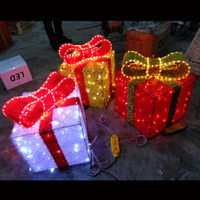 Hot-selling LED light up christmas gift box for both indoor and outdoor use