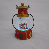 Cardinals Antique Lantern Snow Globe 65mm Custom accept