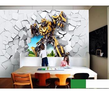 3d Cartoon Wall Murals Transformers Wallpaper Kids Style Design Cheap  Wallpaper For Kids Room - Buy 3d Transformers Wallpaper,Cheap Wallpaper For  Kids