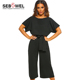 Always Chic Belted formal Culotte Jumpsuit