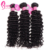 Affordable Remy Indian Curly Human Hair Weave Extensions 3 Bundles With 13x4 Lace Frontal Closure