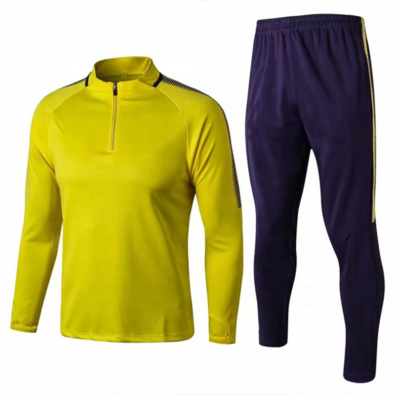 Wholesale Bulk Soccer Tracksuit 2019 Full Color Design Training Sweater Suit, Any color is available