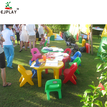 Top Selling plastic children table and chair