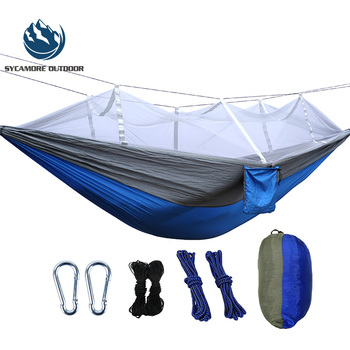 2019 Outdoor Lightweight Portable Nylon Camping Mosquito Net Hammock with Mosquito Netting