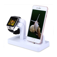 2 in 1 Charging Stand Holder for Apple iwatch Phone Desktop Tablet Dock for Apple Watch,For iPhone X/8Plus/8/7 Plus/X