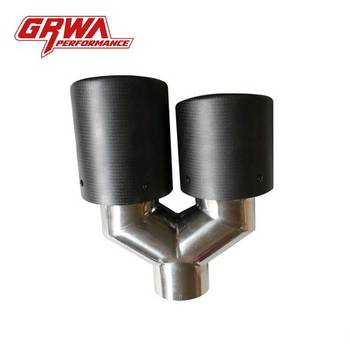 Chinese Gold Supplier Grwa Hot Sales High Quality Auto Parts Exhaust Dual Outlet Pipe Tips For Car