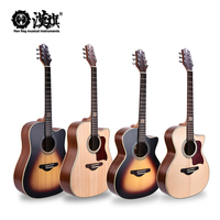 OEM Factory wholesale sapele back solid spruce folk wood acoustic guitar