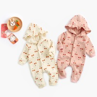 Infant Clothing Winter Warm Thicken Rompers Baby Girls Jumpsuit Long Sleeves Clothes