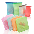 Reusable silicone food preservation bag Food Grade Vegetable silicone storage bag Easy Clean silicone fresh bag