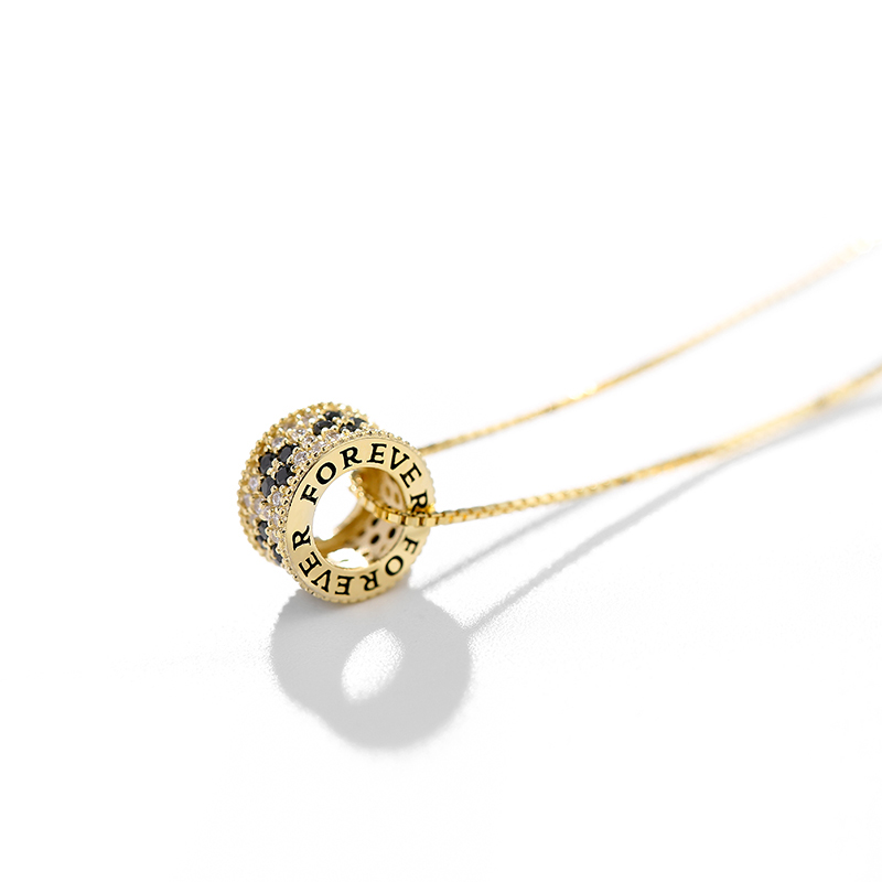 Champagne gold 925 Sterling Silver Flower Necklace 2019 фото