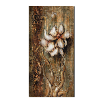 Flower brown porch painting canvas wall art home decor decoration