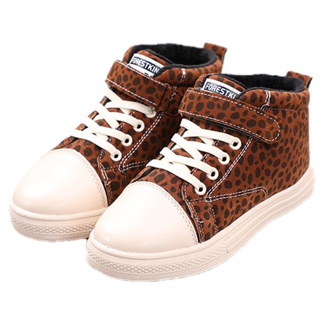 695e77e063e49 الكورية طفل عارضة لوح التزلج مطاط مقاوم للمياه أفخم ليوبارد أحذية دافئة  سميكة الأطفال أحذية رسمية